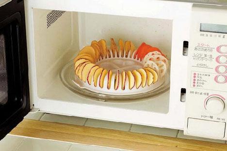 chế biến khoai tây bằng lò vi sóng