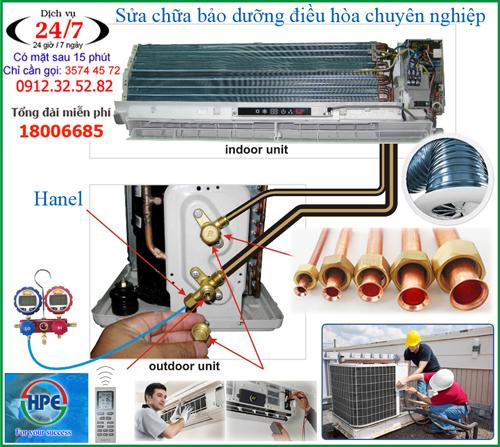 Sửa chữa bảo dưỡng nạp gas điều hòa tại nhà ở Hà Nội