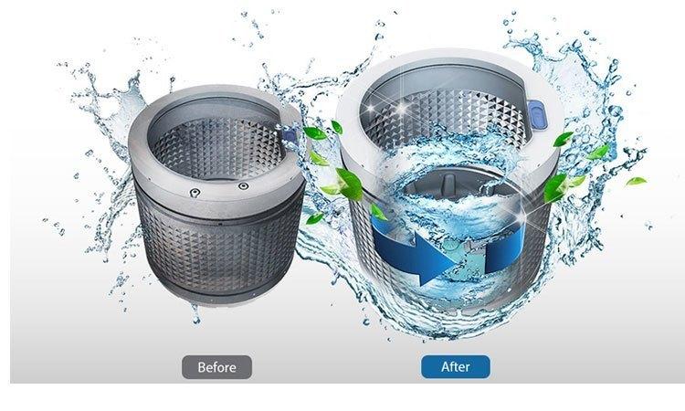 Làm sạch bên trong máy giặt bằng 3 bước đơn giản