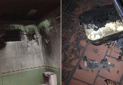 Một vụ tai nạn nổ bình nóng lạnh trong khi tắm