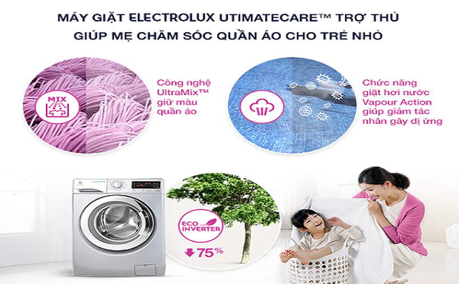 Công nghệ, Tính năng nổi bật có trên máy giặt Electrolux
