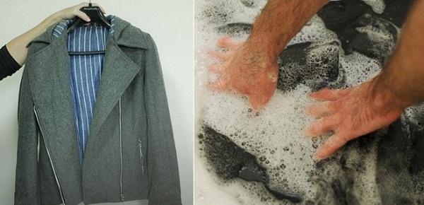 Giặt áo khoác dạ
