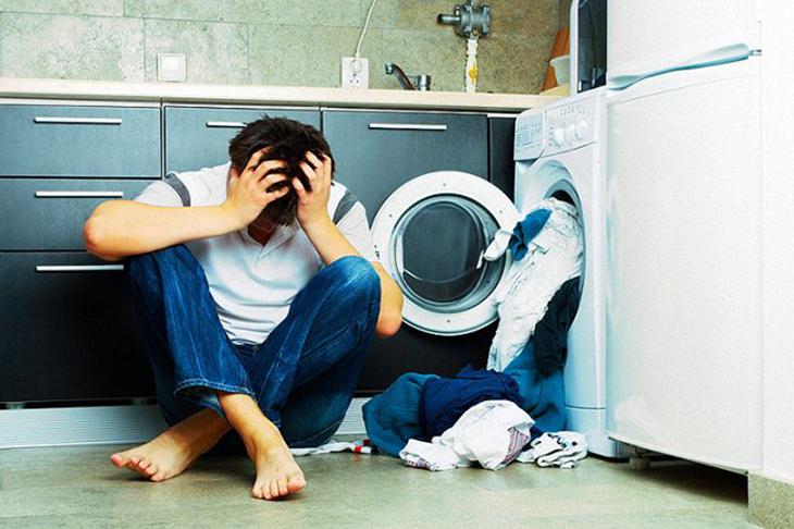Máy giặt đột nhiên ngừng hoạt động