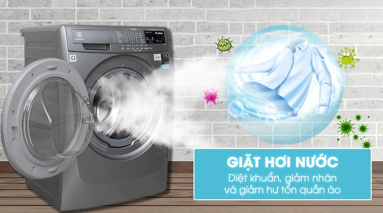 Sử dụng máy giặt có tính năng giặt hơi nước