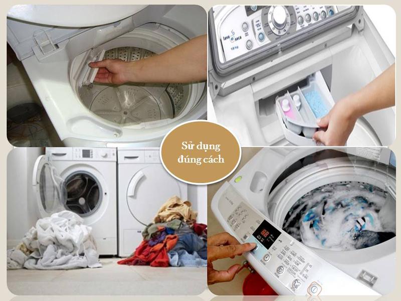 Sử dụng máy giặt mùa mưa đúng cách