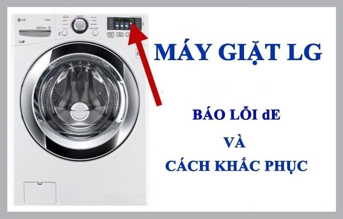 Mã lỗi DE trên máy giặt LG