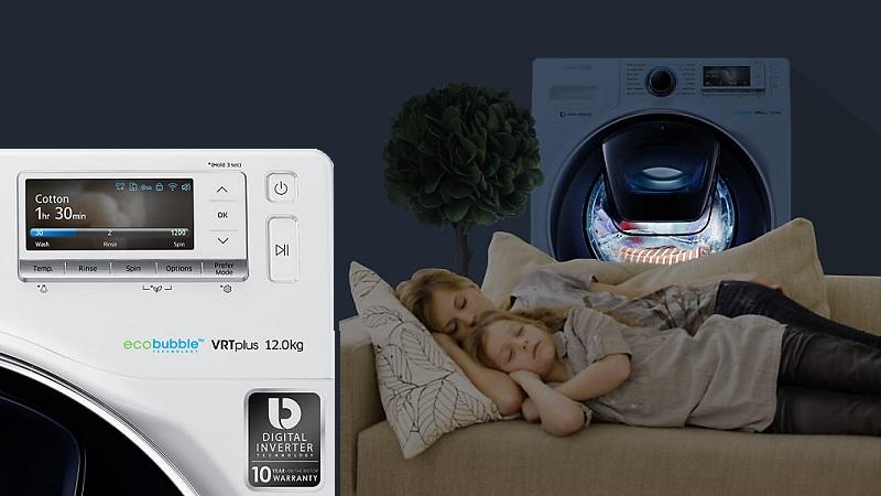 Máy giặt truyền động trực tiếp vận hành êm ái