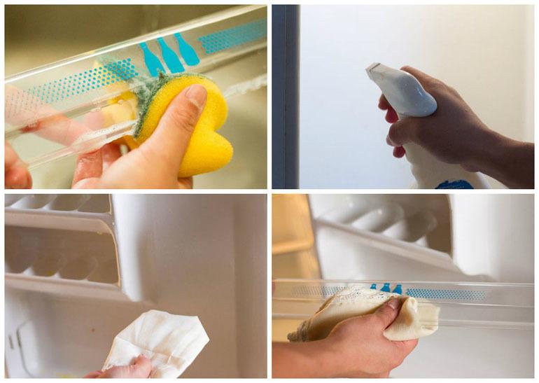 dụng cụ vệ sinh tủ lạnh hết mùi