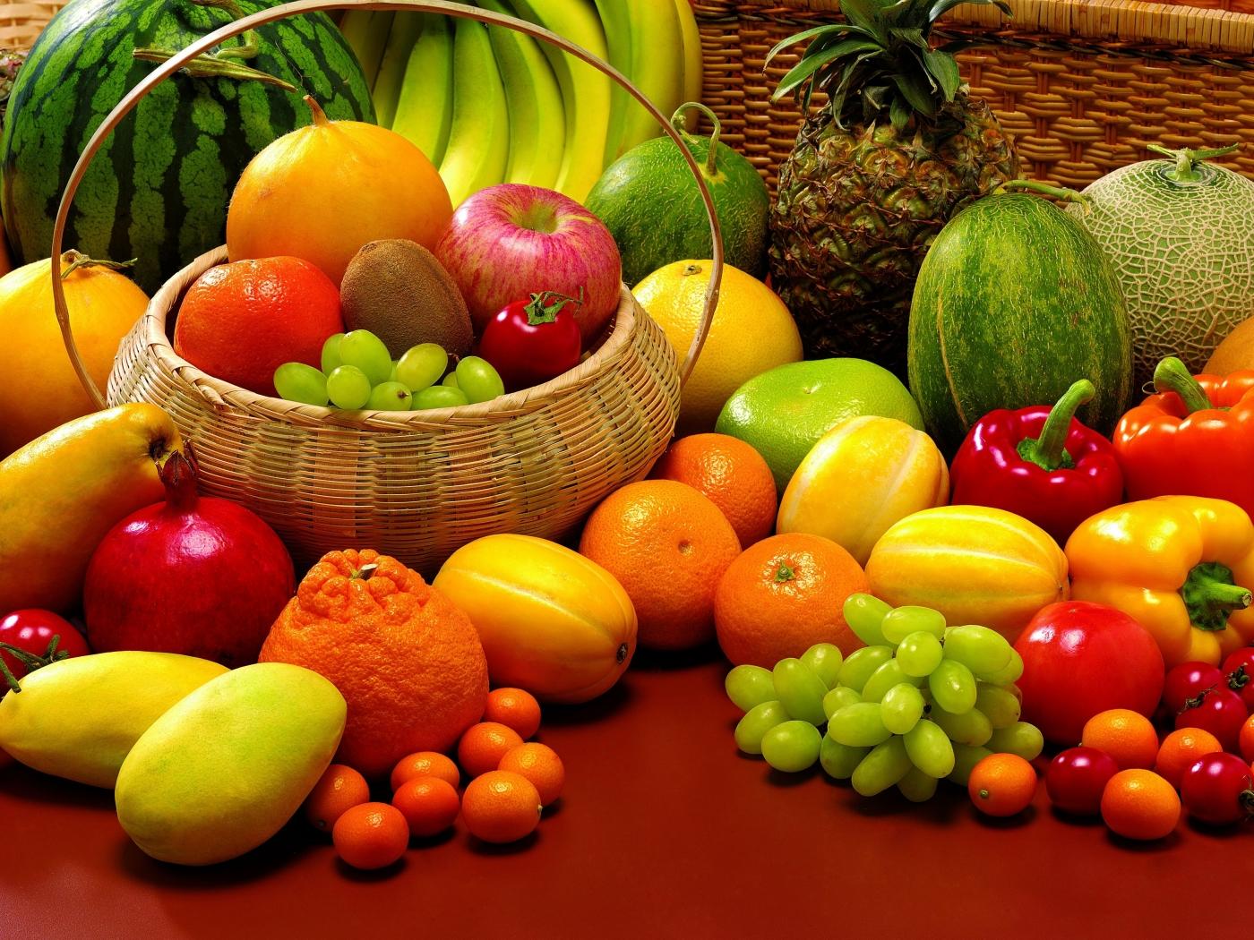 để hoa quả tươi trong tủ lạnh